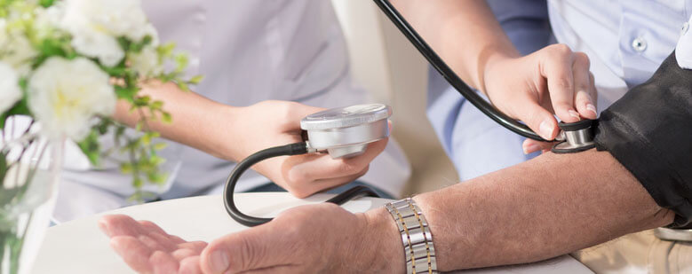 Hypertension, or high blood pressure, is common in patients living with type 2 diabetes