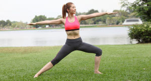 Yoga for acid reflux - Virabhadrasana II